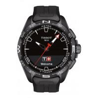 Tissot - T-Touch Connect Solar Svart Urtavla & Gummiband T1214204705103
