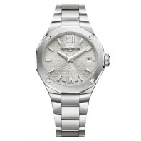 Baume & Mercier - Riviera 10614 Diamond-set Silver Urtavla & Stållänk