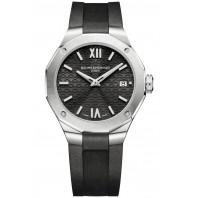 Baume & Mercier - Riviera 10613 Diamond-set Black Dial & Black Rubber Strap