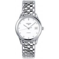 Longines - Flagship 35.6mm White Dial Diamonds & Steel Bracelet L4.774.4.27.6