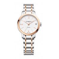 Baume & Mercier - Classima 10269 White Dial Rose Gold & Steel Bracelet