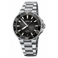 Aquis Date Calibre 400 Anthracite Grey Dial & Steel Bracelet 01 400 7769 4154-07 8 22 09PEB