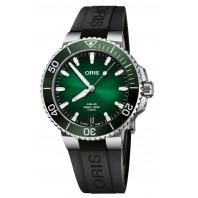 Oris - Aquis Date Calibre 400 Green Dial & Black Rubber Strap 01 400 7769 4157-07 4 22 74FC