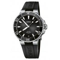 Oris - Aquis Date Calibre 400 Gey Dial & Black Rubber Strap 01 400 7769 4154-07 4 22 74FC