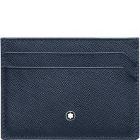 Montblanc - Sartorial Blå Korthållare 5 fickor 128596
