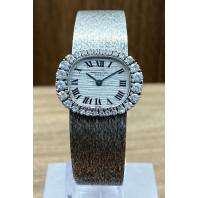 PRE-OWNED Patek Philippe White Gold & Diamond Set Bezel 24mm 3394/1