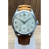 PRE-OWNED Omega Sub Second Silver Dial Steel & Leather Strap 2639-13