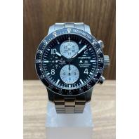 PRE-OWNED Fortis Stratoliner Chronograph B-42 43mm Black & Steel Bracelet 66510141