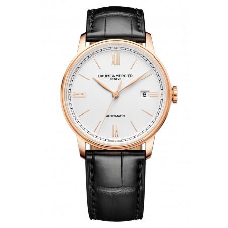 Baume & Mercier - Classima 10597 Opaline Dial & Rose Gold Mens Watch