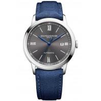 Baume & Mercier - Classima 10608 Grey Dial & Blue Canvas Strap Mens Watch