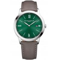 Baume & Mercier - Classima 10607 Grön Urtavla & Läderband Herrklocka