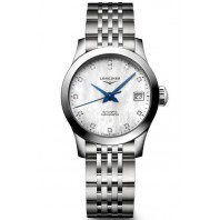 Longines - Record 26mm White Mother-Of-Pearl & Diamonds L23204876