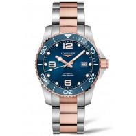 Longines - HydroConquest 41 mm Blue & Steel Rose Gold PVD L3.781.3.98.7