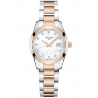 Longines - Conquest Classic Mother of Pearl, Rose Gold PVD & Steel L3.376.4.16.6