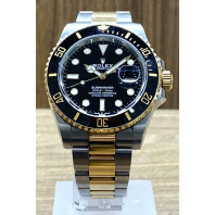 PRE-OWNED Rolex Submariner Date 41mm Black Steel/Gold 126613LN