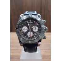 PRE-OWNED Breitling Chronomat GMT 44mm Brun & Blått läderband AB042011/Q589