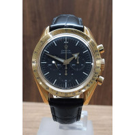 PRE-OWNED Omega Speedmaster 150th Anniversary Broad Arrow Gold & Alligator leatherstrap 36935081