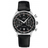 MIDO - Multifort Patrimony Chronograph Black Dial & Leather Strap M040.427.16.052.00