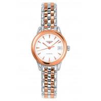 Longines - Flagship White Dial, Rose Gold & Steel Bracelet L4.274.3.92.7