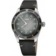 Oris - Divers Sixty-Five 40mm Grå & Läder 01 733 7707 4053-07 5 20 89