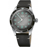 Oris - Divers Sixty-Five 40mm Grey & Leather strap 01 733 7707 4053-07 5 20 89