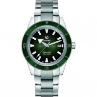 Rado - Captain Cook Automatic Grön Urtavla & Stållänk R32105313