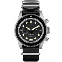 Unimatic - U3 Classic Chronograph 40mm Black Dial & Nato Strap UC-3