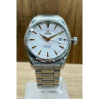 PRE-OWNED Omega Seamaster Aqua Terra Chronometer White/Steel 2503.34.00
