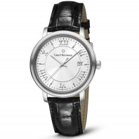 Carl F. Bucherer - Adamavi 39mm Automatic Silver & Leather strap 00.10314.08.15.01