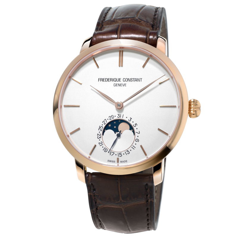 Frédérique Constant - Slimline Moonphase Manufacture Rose Gold FC-705V4S4