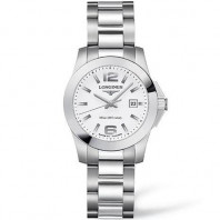 Longines - Conquest Quartz White Steel Lady's Watch