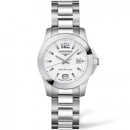 Longines - Conquest Lady's Watch Quartz White Dial & Steel Bracelet L32774166
