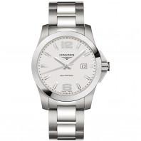 Longines - Conquest Quartz Silver Dial & Steel Bracelet L37594766