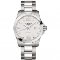 Longines - Conquest Quartz White Steel Gent's Watch