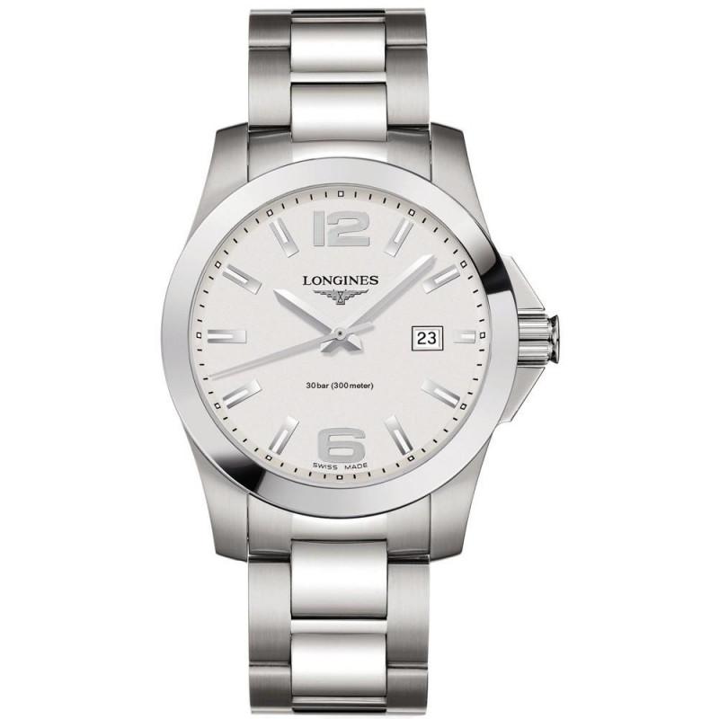Longines - Conquest Quartz White Steel Gent's Watch