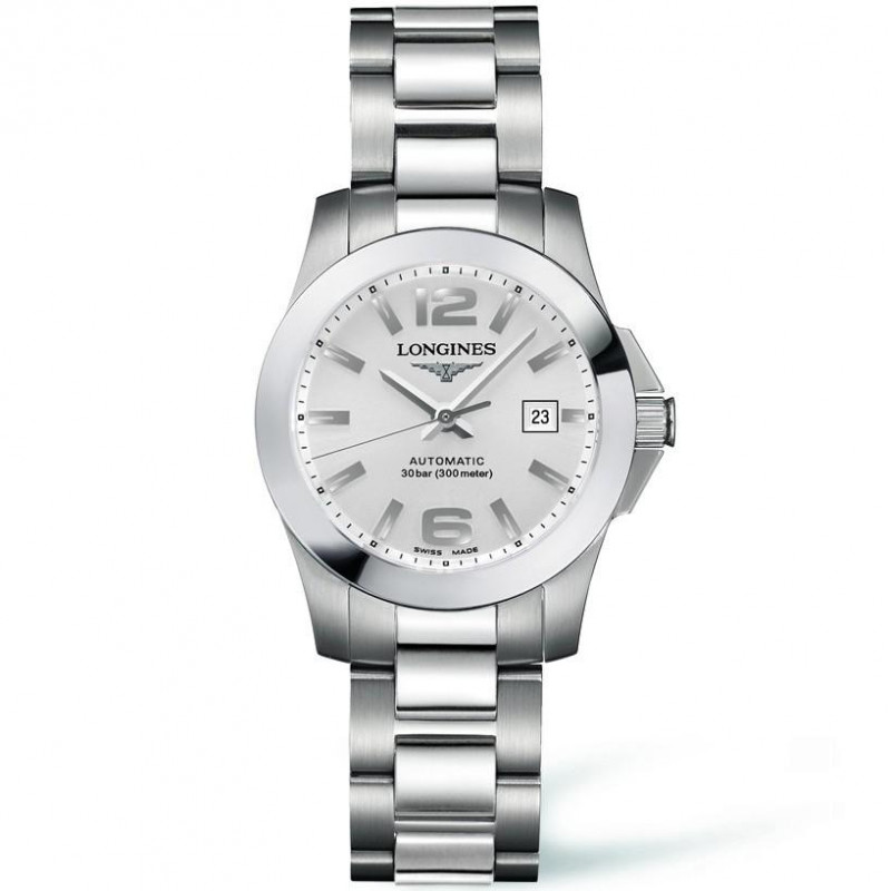 Longines - Conquest Automatic Silver Steel Lady's Watch
