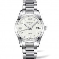 Longines - Conquest Classic White Steel Braclet Gent's Watch