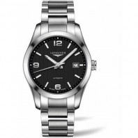 Longines - Conquest Black Steel Gent's Watch