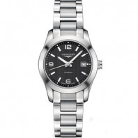 Longines - Conquest Classic Black Steel Lady's Watch