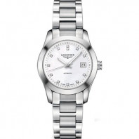Longines - Conquest Classic MOP Diamanter Stål DamKlocka