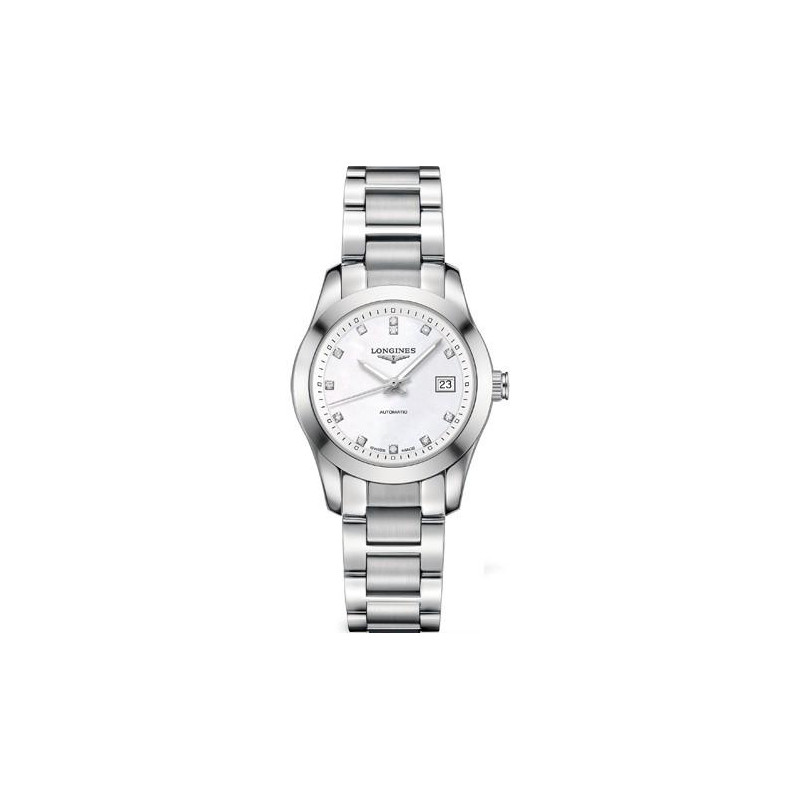 Longines - Conquest Classic MOP Diamonds Steel Lady's Watch