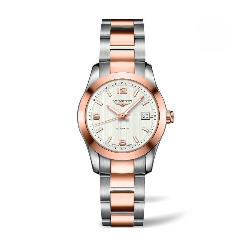 Longines - Conquest Classic Vit Steel Rose Guld Ladies watch
