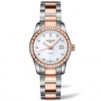 Longines - Conquest Classic Diamonds MOP Steel & Rose Gold Ladie's watch