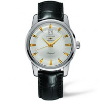 Longines - Conquest Heritage Silver Leather Strap Gent's Watch
