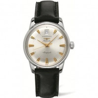 Longines - Conquest Heritage Silver Leather Strap