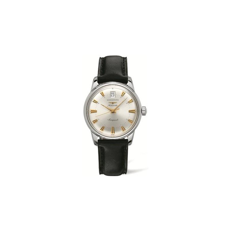 Longines - Conquest Heritage Silver Dial & Leather Strap  L16114752
