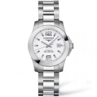 Longines - Conquest White Steel Lady's Watch