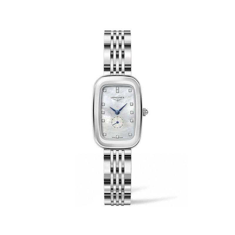 Longines - Equestrian MOP Diamonds Steel Lady's Watch