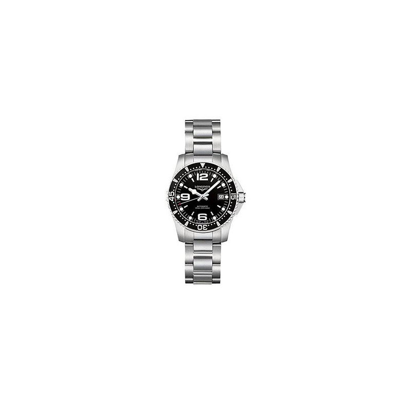 Longines - HydroConquest, Black 29.5 mm Steel Lady