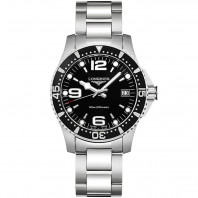 Longines - HydroConquest Quartz Black Steel Lady's Watch